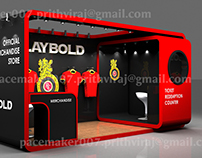 Royal Challengers Bangalore Merchandise stall