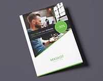 Maskot – Business and Corporate Brochure Bi-Fold PSD