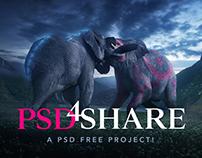 FREE PSD - Elephant King