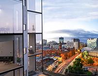 skyscraper in Manchester