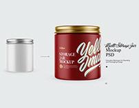 Storage Jar Mockup PSD