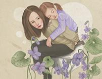 Cuddles with flower
