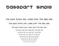 BASEPART Simple Font Design