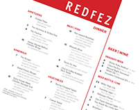 Redfez Menu Design
