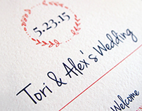 Tori & Alex. Wedding Invitation