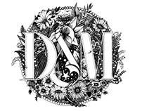 D&M IN PARADISE / hand lettering