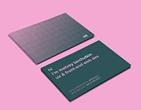 Business card design | personal branding | mt