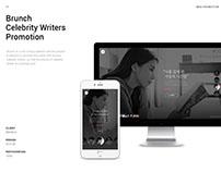 Brunch Celebrity Writers Promotion