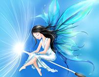 Fairy and the magic dandelion