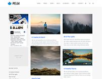 Blog Left Sidebar - Peak WordPress Theme by Visualmodo