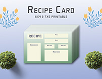 Free Ornate Recipe Card Template