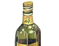 Lucini Olive Oil Product Illustration