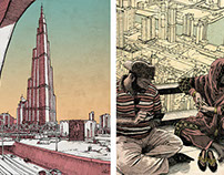 Dubai (ink-drawings)