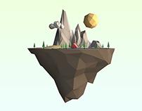 Lowpoly Island   3D Modelling