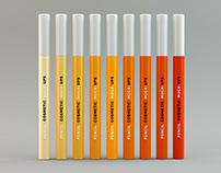 Cosmetic Pencil Eyeliner / Lipliner / Lipstick Mockups