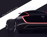 Audi Quattro Concept Sketch
