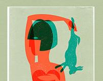 'Girl & a hare' illustration (30-06-2015)