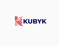 "RUBIK'S CUBE + ""K"" Letter Combined Logo"