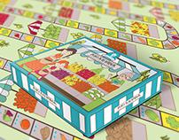 """Fresh market"" money education board game design"