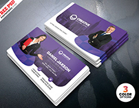 Horizontal Corporate Business Card PSD Template