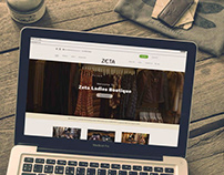 Zeta Boutique // Website Design