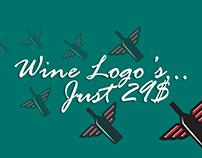 Wine Logo's Just 29$