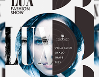 Lux Fashion Show Flyer