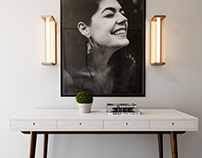 Console Table + Portrait