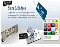 custom name badges and wall signs/plaques
