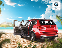 BMWX3-To the beach