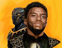 Digital Painting en Hommage à Chadwick Boseman