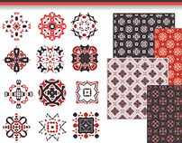 16 geometric elements + 32 patterns