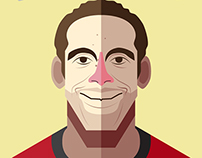 Manchester United Player Illustration