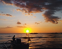 Sunset around Makassar, South Sulawesi, Indonesia.