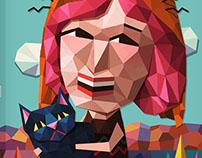 Sherlock Cat, Digital Illustration