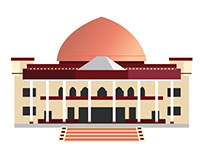 The Afghan Parliament Illustration
