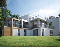 Visual of a modern house, Ivyleaf Hill, Bude