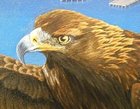 "Golden Eagle 24""x36""  Audrey E Collins"