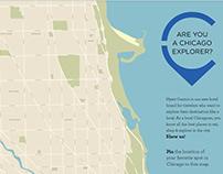Hyatt Centric Map of Chicago Poster