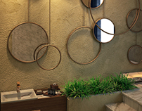 Powder room design at SIA office
