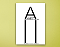 Fonts Poster Design (Avenir- Gill Sans-Franklin Gothic)