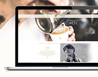 Landing page/ Logotype/ Serenity Coffee. Cafe