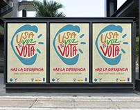 """""""Usa tu voz, Vota"""" UN Campaign"""