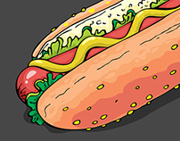 FAST FOOD COLLECTION Vector illustrations