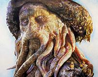 Davy Jones - Traditional Art