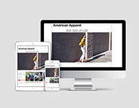 American Apparel: Website Redesign