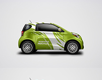 Compact car mockup free PSD