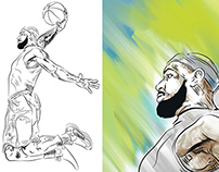 Lebron James Illustrations