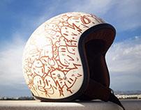 Helmet Custom Cristian Fish+Davida+8negro