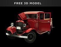 Ford Model B Pickup (1932) - Free 3D model